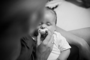A pacifier might help to prevent hiccups