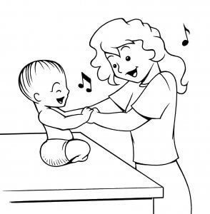 Singing with a baby can be a lot of fun