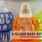 5 GLASS BABY BOTTLES FOR PLASTIC-FREE MOMMAS