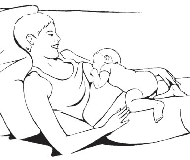 laid back breastfeeding