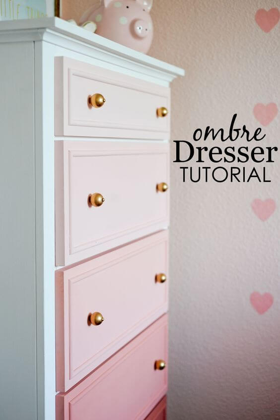 DIY Dresser, Wardrobe, Ombre, Colors, Baby Room DIY