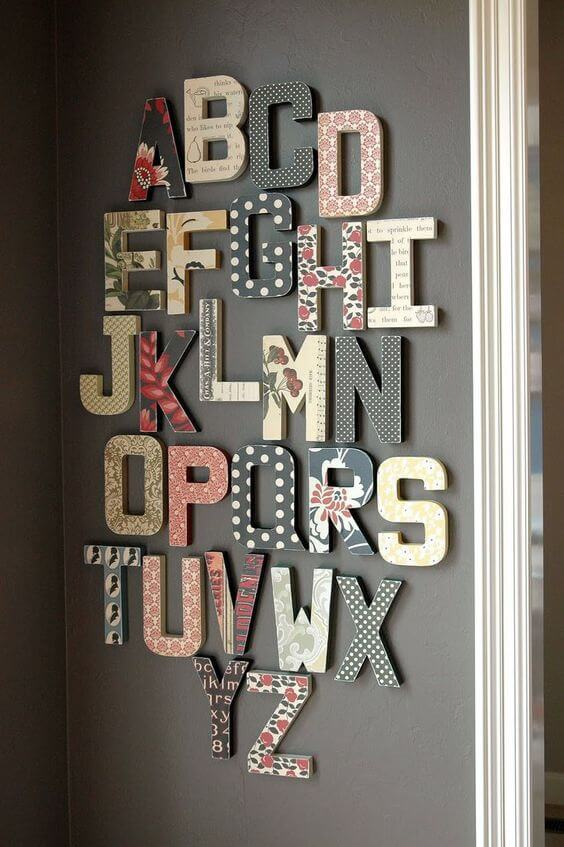 DIY, Baby Room, Ideas, Inspiration, Letters, Alphabet