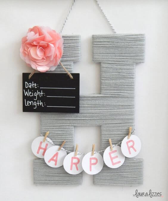 Hanging Letter, DIY, Baby Room Deco