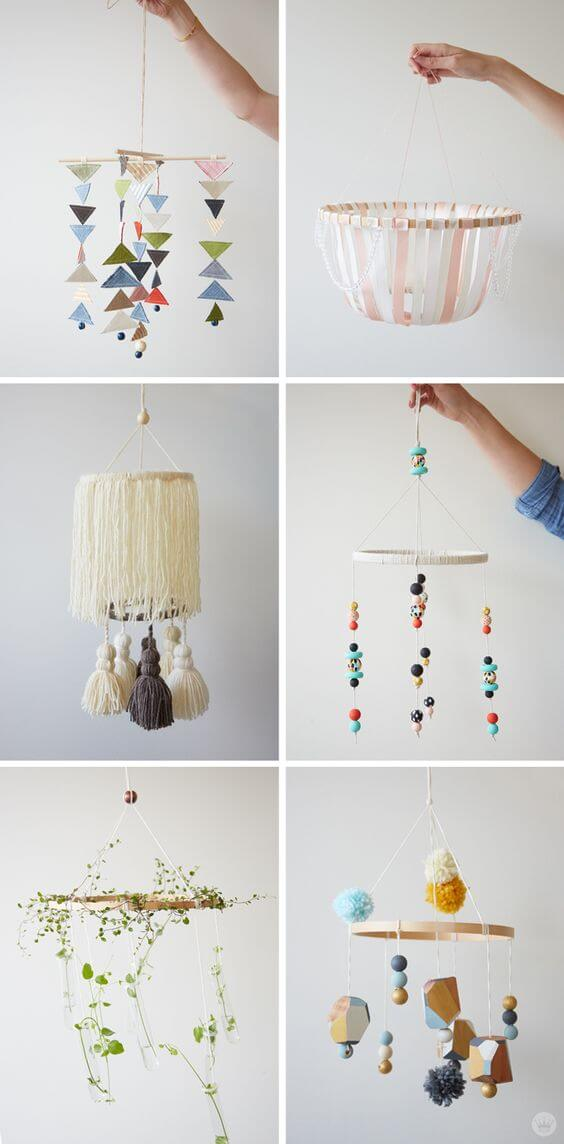 DIY Baby Mobile, Baby Room Decoration Idea, Inspiration