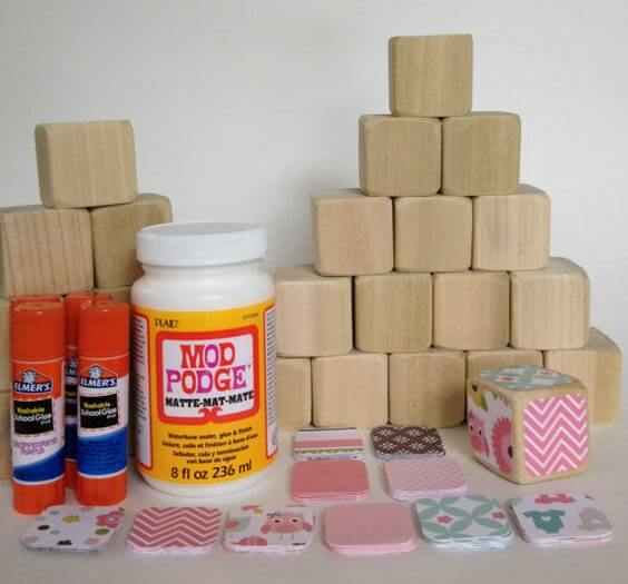 DIY Baby Toys, Homemade Toys, DIY Wood Baby Blocks