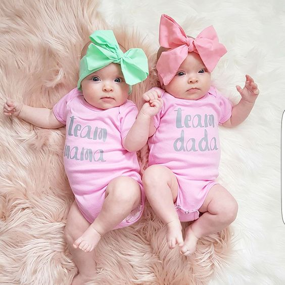 Twin Baby Girl Quotes: Super Cute Baby Onesies