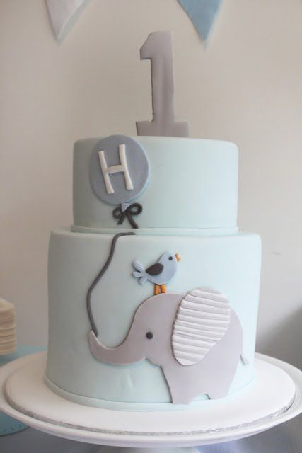 1st Birthday Cake Ideas, 1st Birthday Party, Elephant Theme, Party Ideas #Birthday #1stBirthday