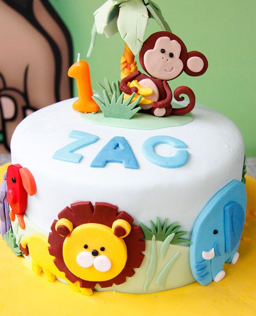1st Birthday Cake Ideas, 1st Birthday Party, Jungle Theme, Party Ideas #Birthday #1stBirthday