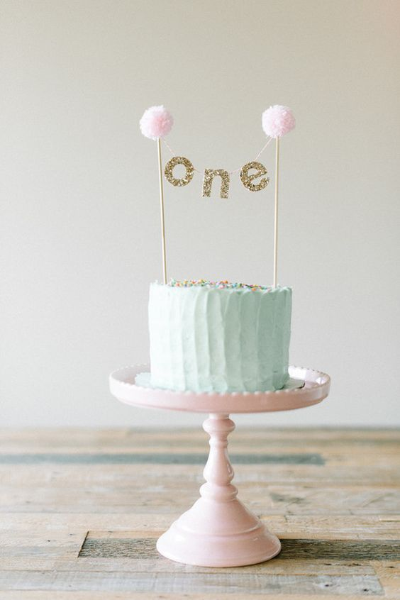 1st Birthday Cake Ideas, 1st Birthday Party, Pastel Theme, Party Ideas #Birthday #1stBirthday