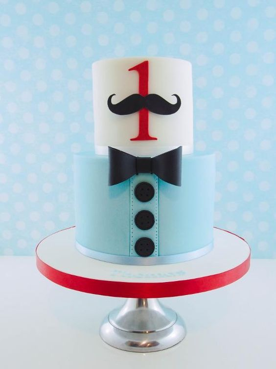 1st Birthday Cake Ideas, 1st Birthday Party, Moustache Theme, Party Ideas #Birthday #1stBirthday