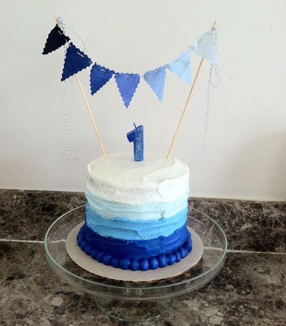 1st Birthday Cake Ideas, 1st Birthday Party, Blue Theme, Party Ideas #Birthday #1stBirthday